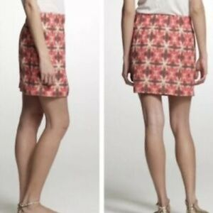 J. Crew Tie Dyed Wednesday Silk/Linen Skirt